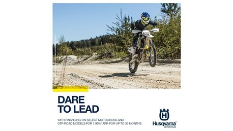 Husqvarna Motorcycles - Dare to Lead Retail Finance Program